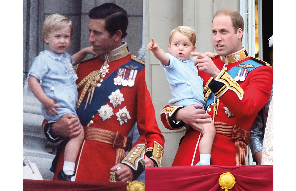Принц Уильям и принц Чарльз 1984 год/ принц Уильям и принц Джордж 2015