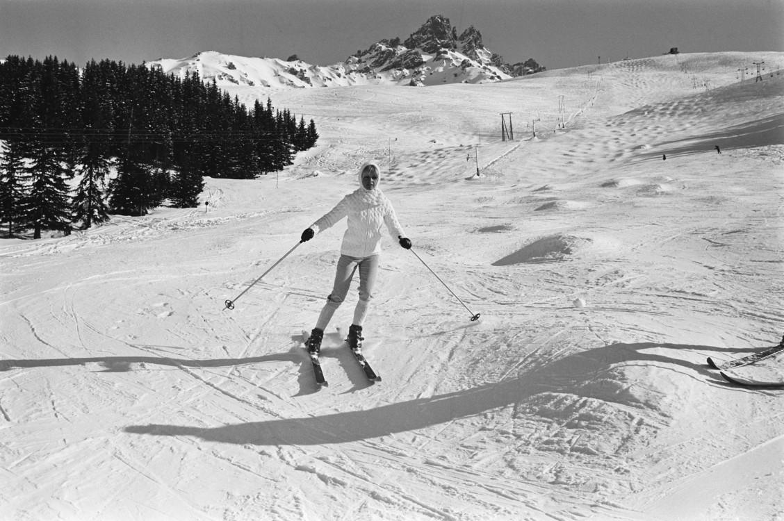 Брижит Бардо в Мерибель, Франция, 1966 год