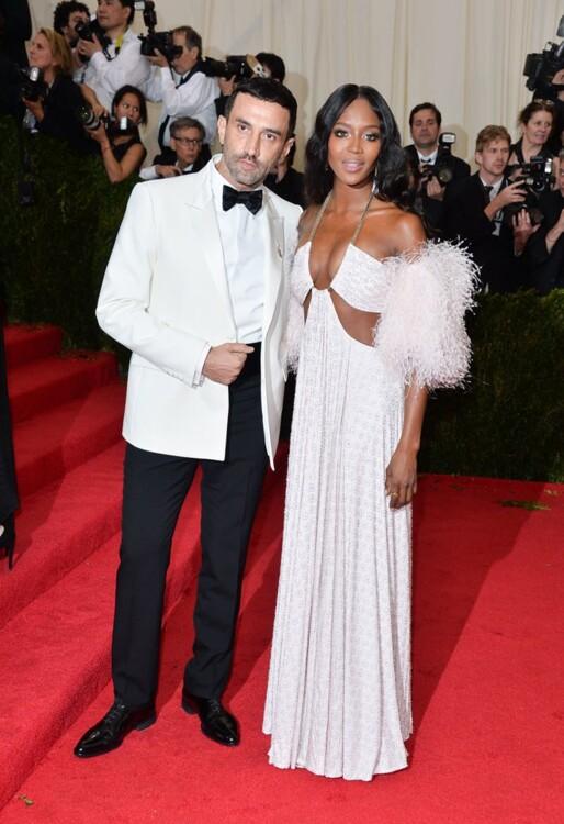 Рикардо Тиши и Наоми Кэмпбелл в Givenchy, MET Gala 2014
