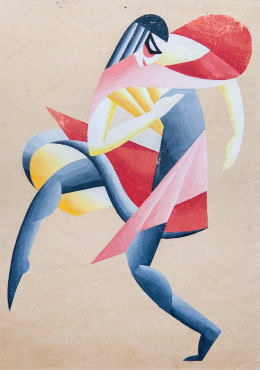 Вадим Меллер. Маска. Эскиз костюма. Балетмейстер Балетмейстер Нижинская, Киев, 1919-20