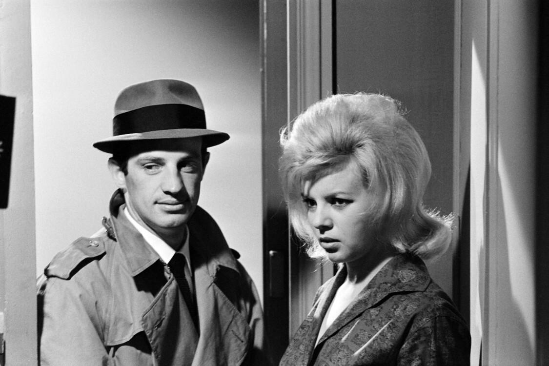 """С актрисой Моник Хеннеси на съемках фильма """"Стукач"""", 1962"""
