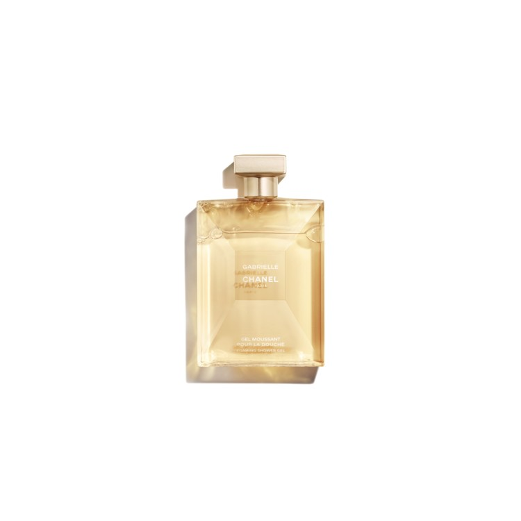 Гель для душа Gabrielle, Chanel, благоухает точно как аромат Gabrielle, Chanel: нотами жасмина, иланг-иланга, цветов апельсинового дерева и туберозы.