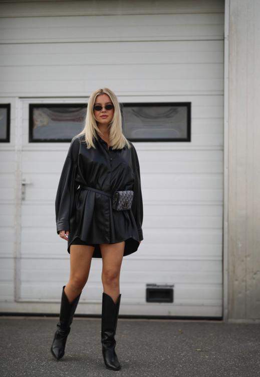 Как носить кожаные вещи этой осенью стритстайл фото примеры осень 2020 фото