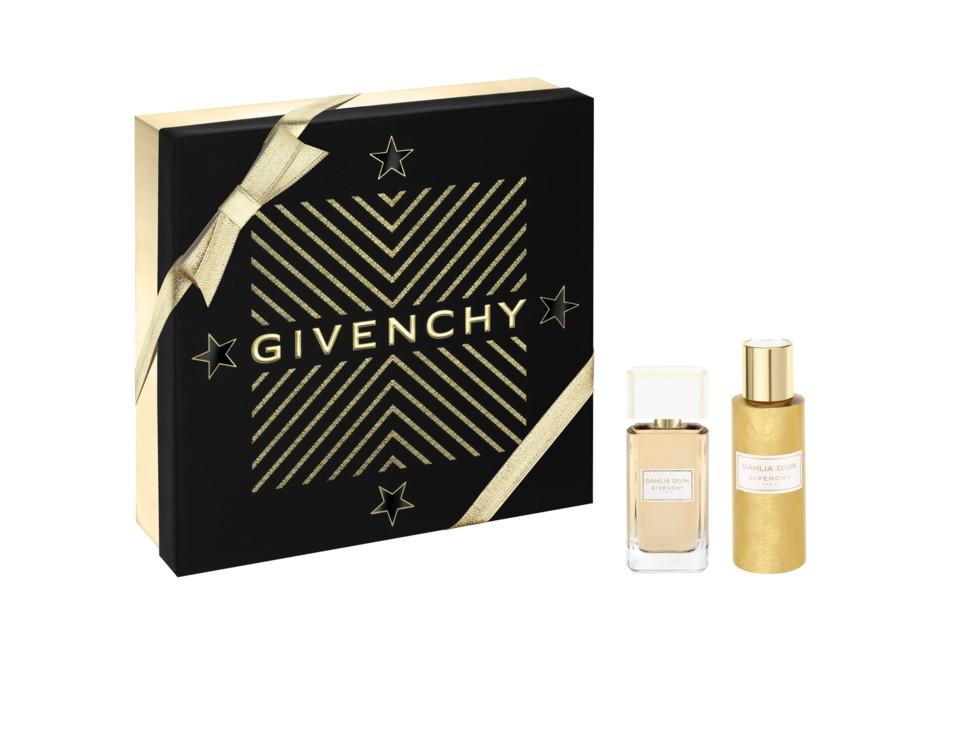 Женский набор Dahlia Divin: парфюмированная вода и парфюмированная золотистая дымка для тела, все – Givenchy