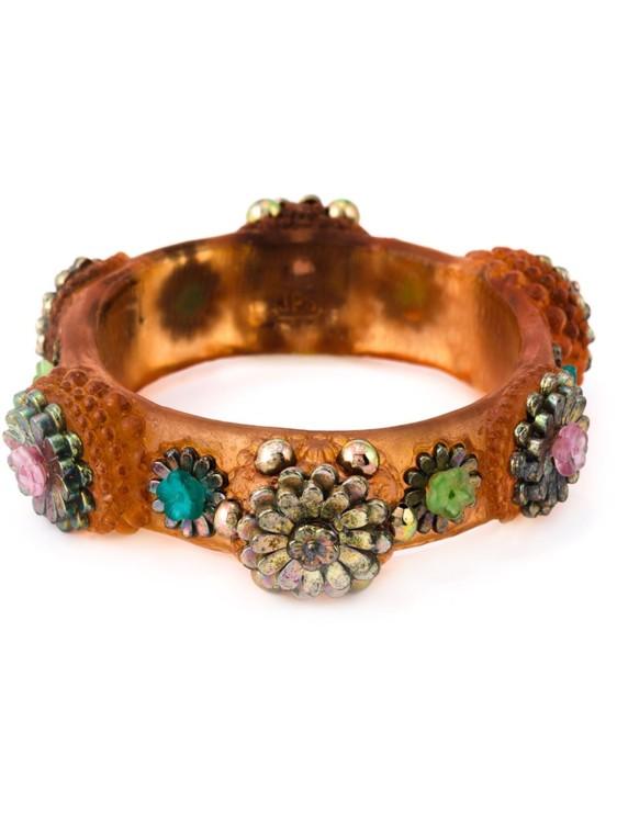 Разноцветный каучуковый браслет Mille Fiori с цветочными элементами,  Jean Paul Gaultier Vintage. Прибл. 1990-й год