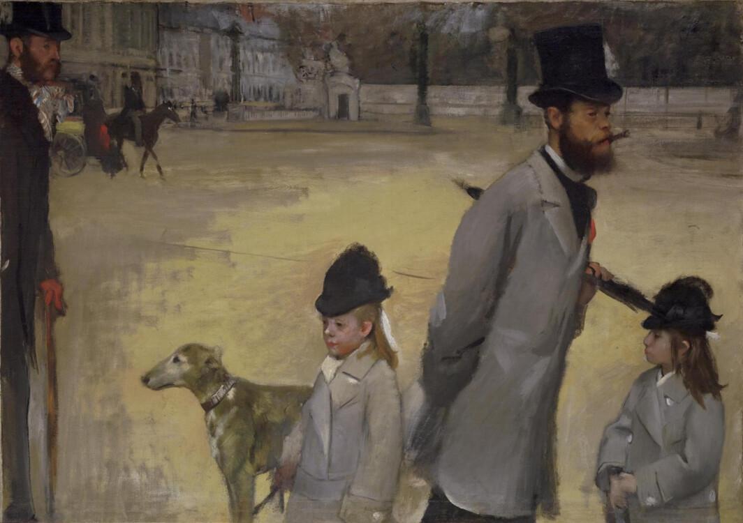 «Площадь Согласия (Виконт Лепик с дочерьми, переходящий площадь Согласия)», 1873