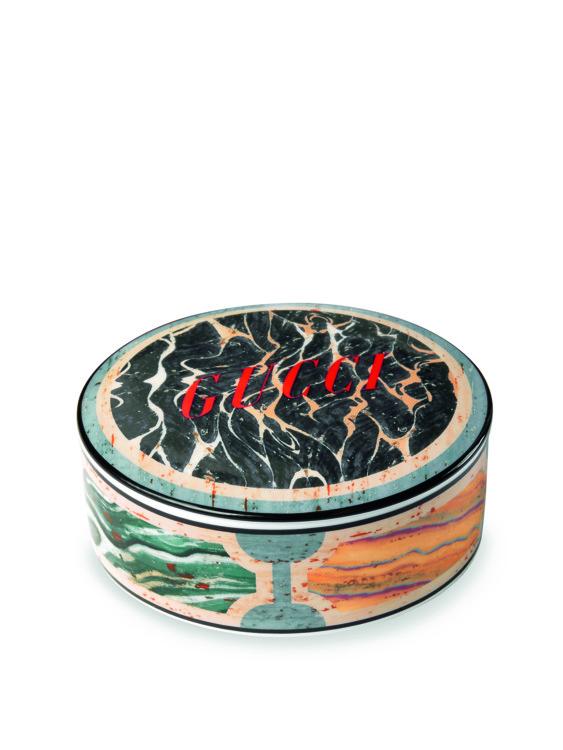 Круглая шкатулка из новой коллекции Gucci Décor