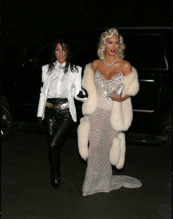 Ким и Кортни Кардашьян в образах Мадонны и Майкла Джексона
