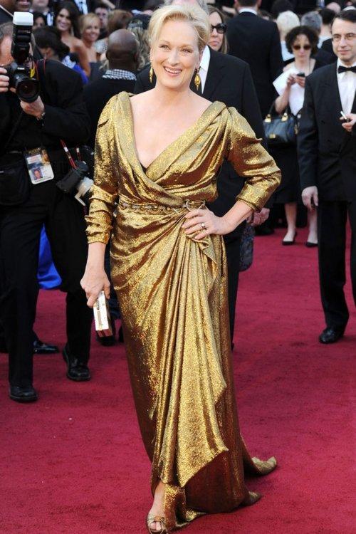 2012 год: Мэрил Стрип в платье Lanvin