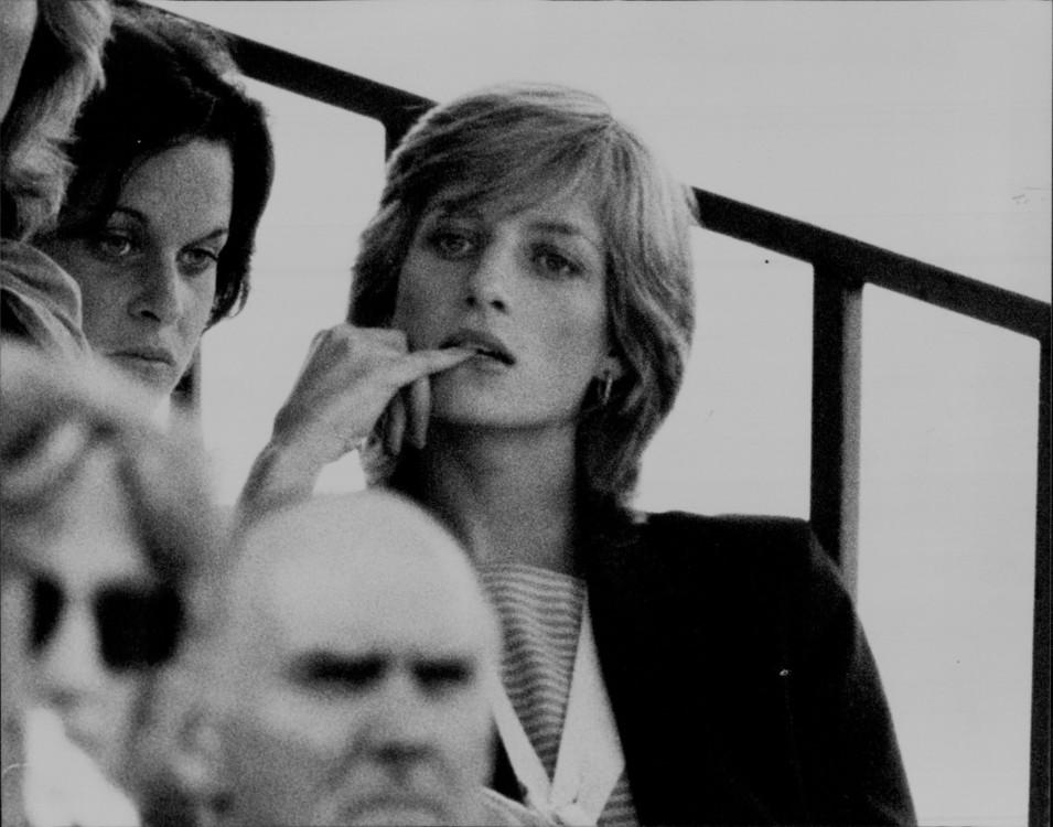 1983. Принцесса Диана на матче поло, где играет принц Чарльз