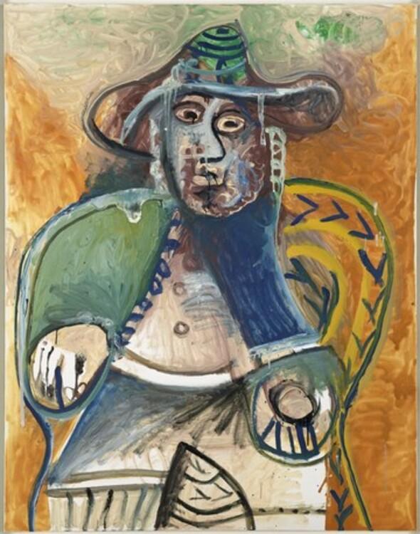 Пабло Пикассо, Vieil homme assis Mougins, 26 сентября 1970 год