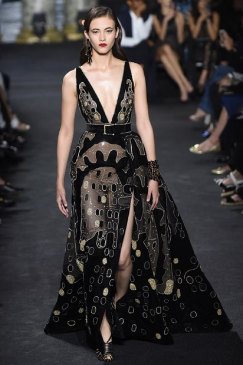 The Chrysler Building was referenced in several Saab couture looks for Autumn/Winter 2016