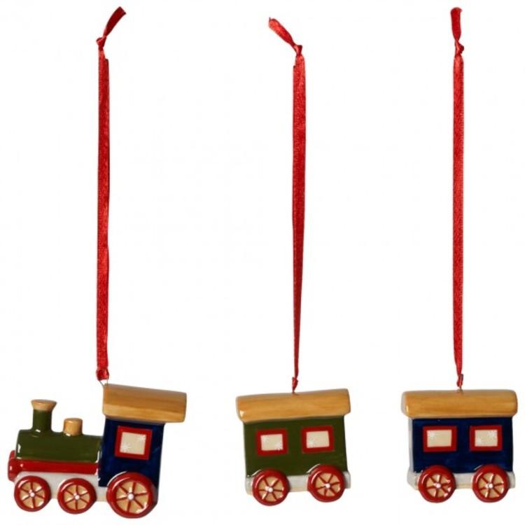 Елочные игрушки-паровозики, Villeroy & Boch