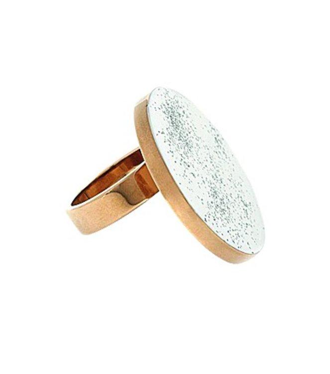 Кольцо, латунь, эмаль, Stella McCartney