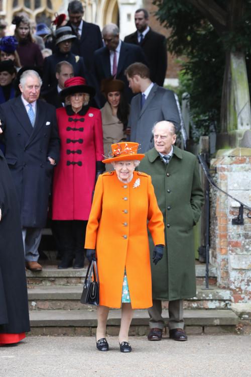 Королева Елизавета II, Филипп, герцог Эдинбургский, Чарльз, принц Уэльский, Камилла, герцогиня Корнуольская