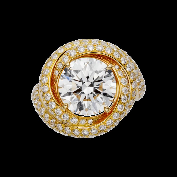 Кольцо Cartier, желтое золото и бриллианты