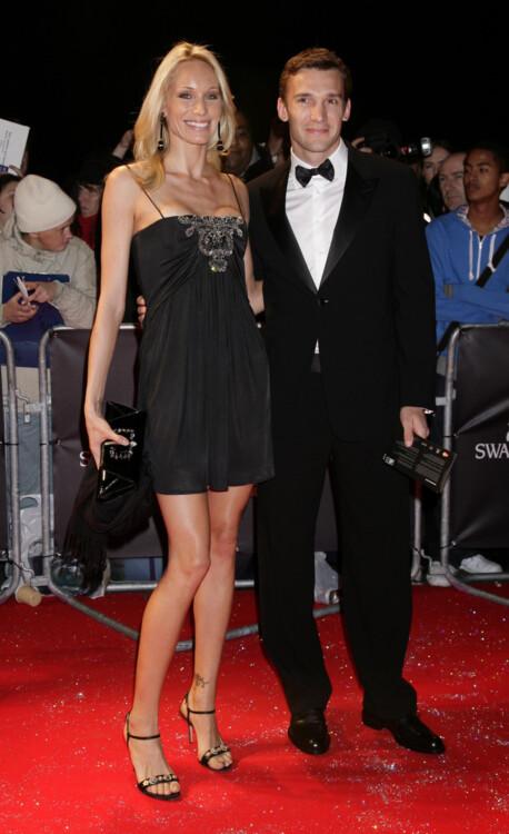 Кристен Пазик и Андрей Шевченко на показе Swarovski Fashion Rocks, 2007