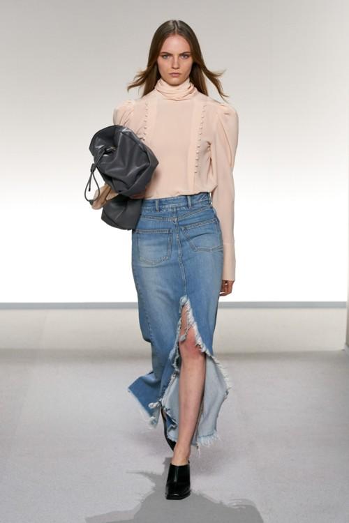 джинсовые юбки мода с чем носить