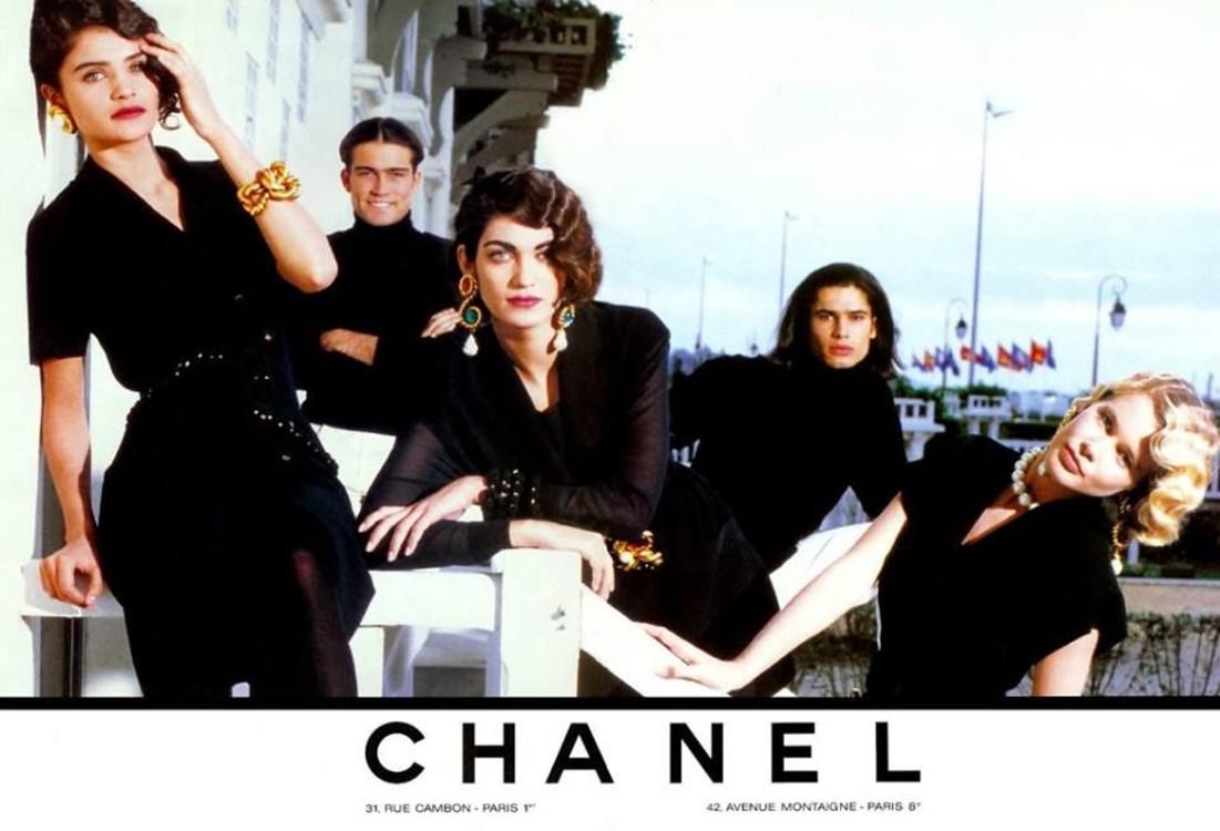 Рекламная кампания Chanel весна-лето 1990