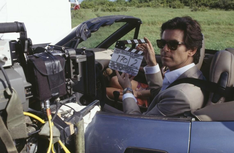 """Пірс Броснан на зйомках фільму """"Золоте око"""", 1995"""