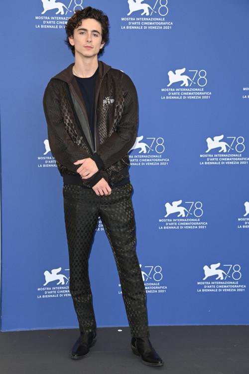 Тимоти Шаламе в Haider Ackermann на Венецианском международном кинофестивале, 2021