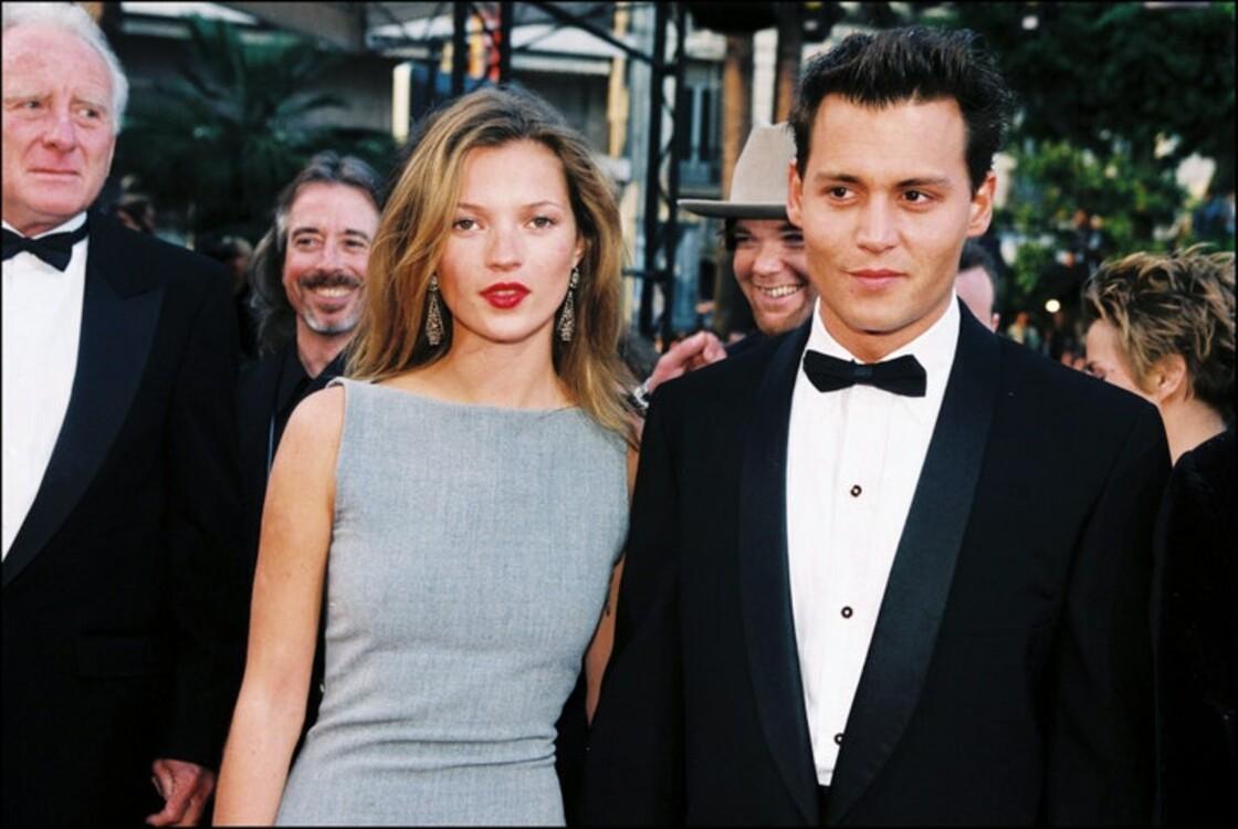 Кейт Мосс и Джонни Депп на Каннском кинофестивале, 1997