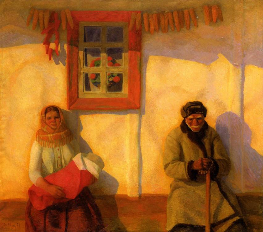 """""""Жизнь продолжается"""", 1970 год (в коллекции Национального художественного музея Украины)"""