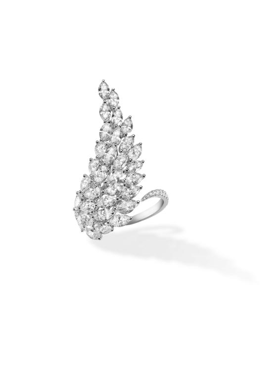 Сережки Angel, біле золото, діаманти, Messika