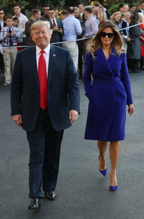 Мелания Трамп в пальто Emilio Pucci