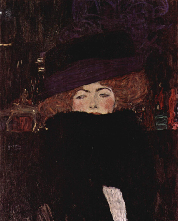 «Дама в шляпе и боа из перьев», 1909