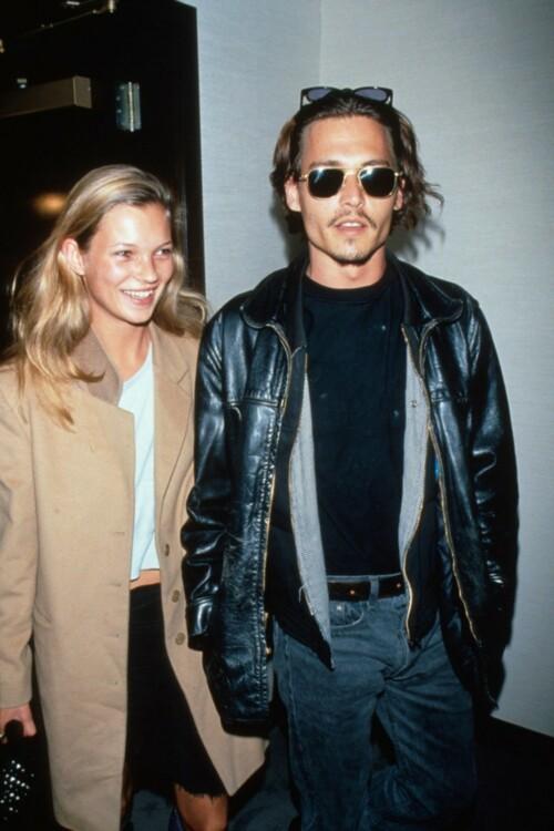 Кейт Мосс и Джонни Депп, 1990-е
