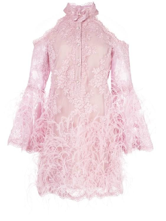 Платье с перьями модный тренд 2020 фото
