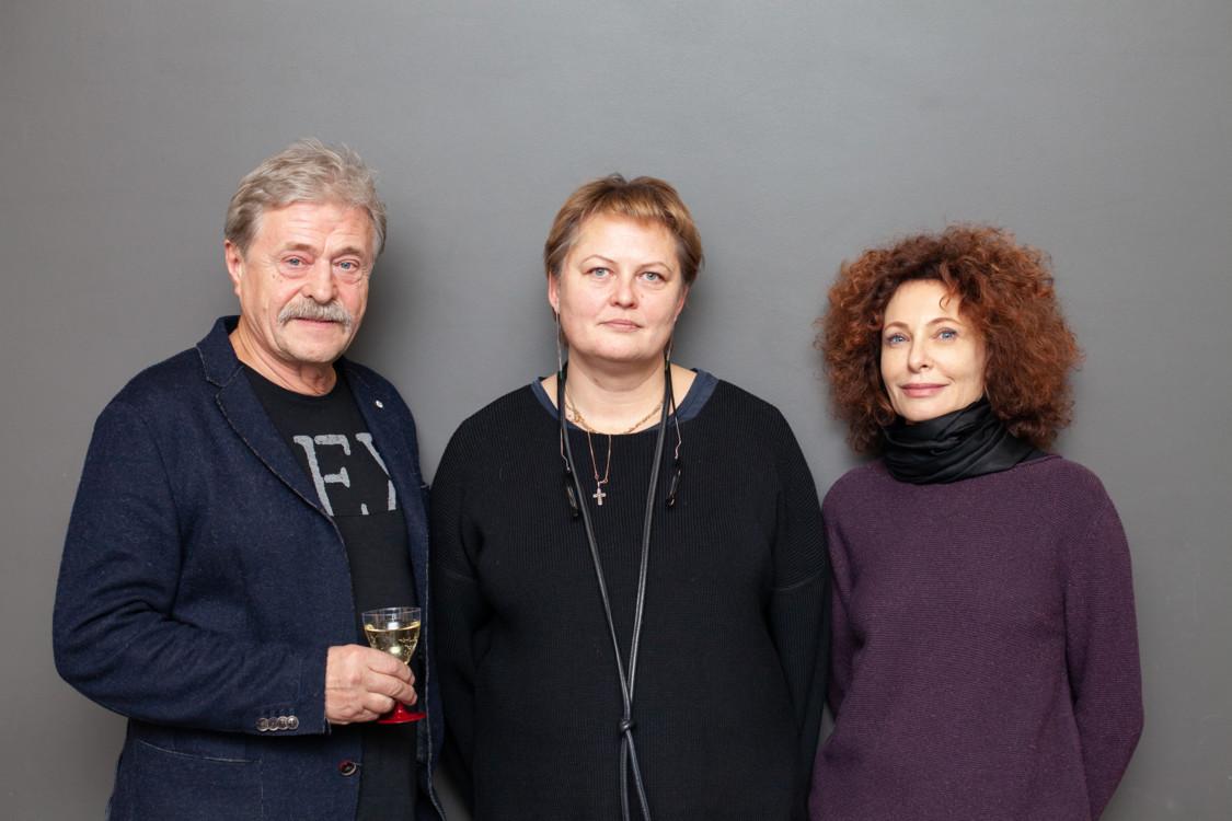 Архитекторы Владимир Кудин, Ольга Рябова и Фаина Эренбург