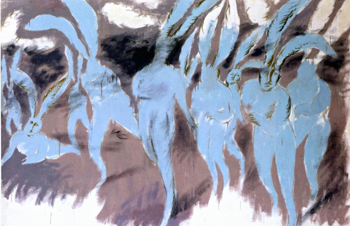 """""""Психоделическая атака голубых кроликов"""", 1990"""