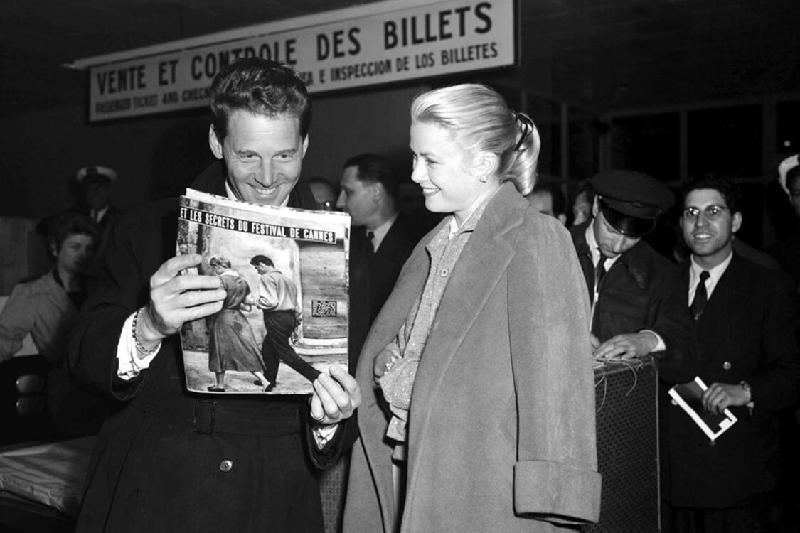 Жан-П'єр Омон і Грейс Келлі, 1955
