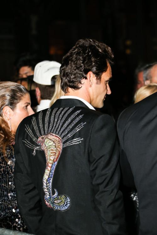 Роджер Федерер в Gucci на Met Gala, 2018