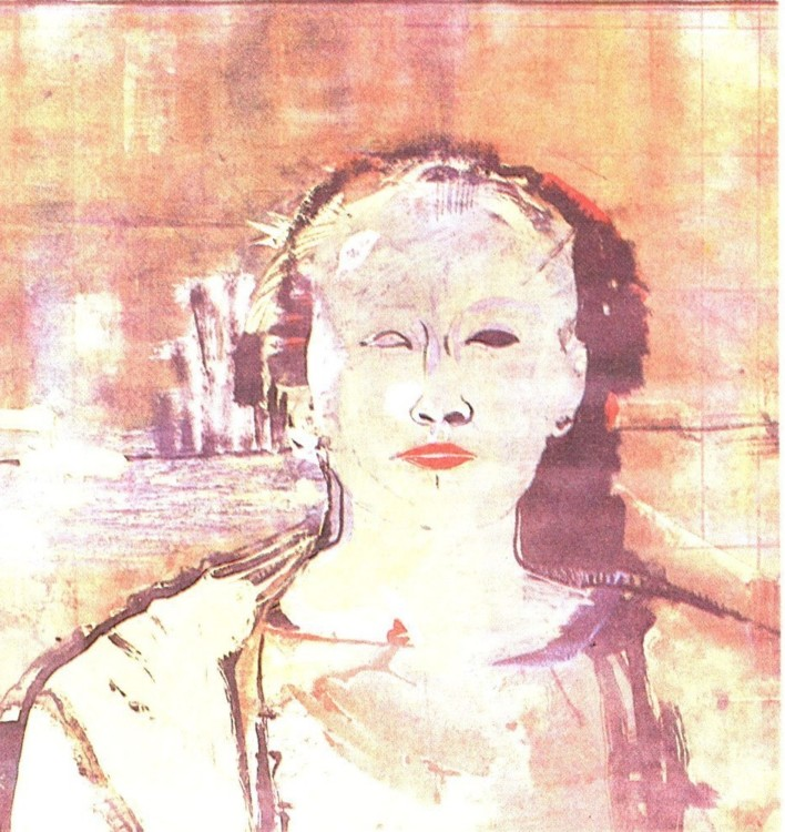 Олег Тистол, 1988, Из цикла Портрет в платках, лист 5, холст, масло, авторская техника, 48 х 48 см