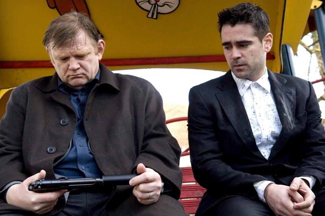 Брендан Глисон и Колин Фаррелл в фильме «Залечь на дно в Брюгге», 2008