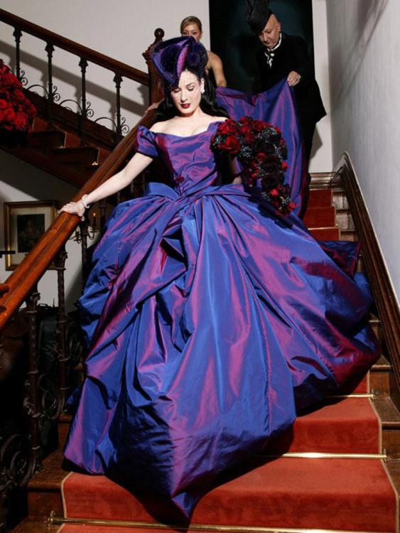 Дита фон Тиз в платье от Vivienne Westwood