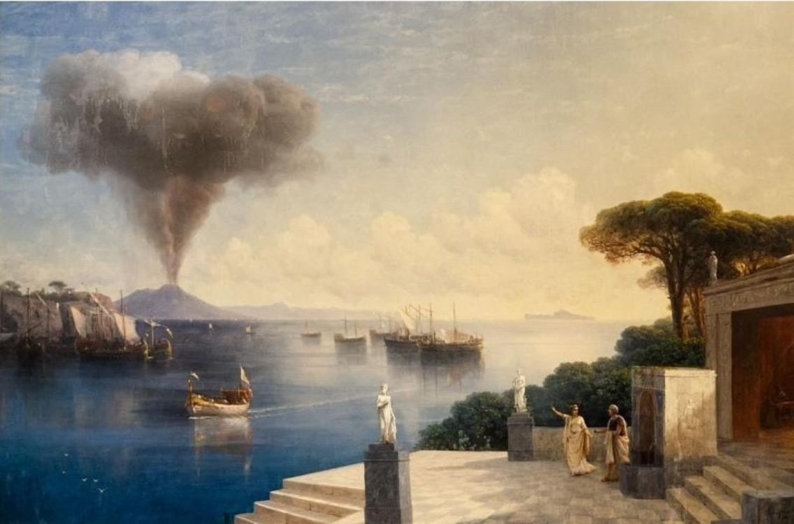 «Вид на Везувий за день до извержения вулкана», 1885 (Эстонский художественный музей, Таллин)