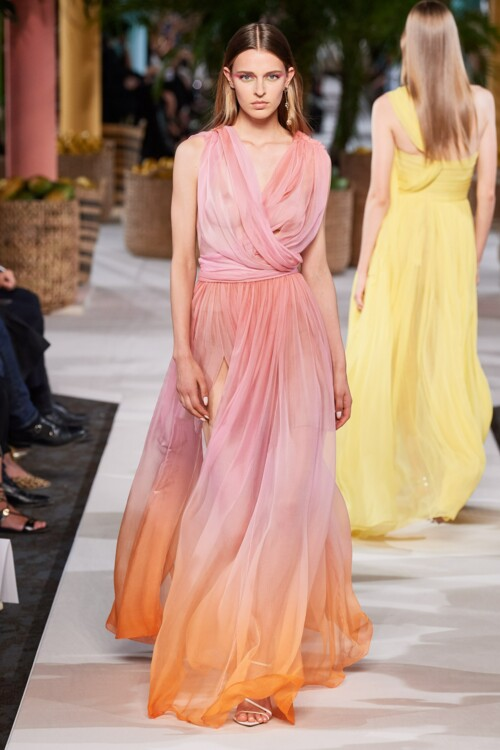 Градиентное платье Oscar de la Renta