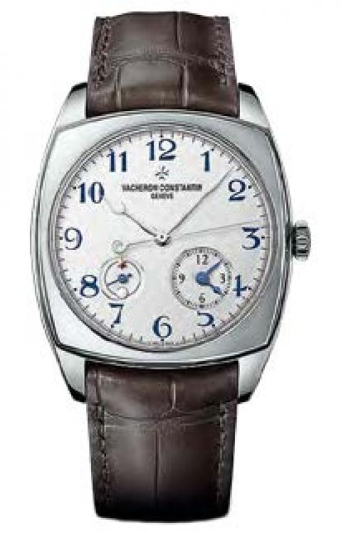 Часы Harmony Dual Time, корпус из белого золота, ремешок из кожи аллигатора, VACHERON CONSTANTIN, лимитированная серия из 625 экземпляров