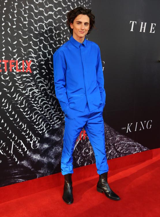 Тимоти Шаламе в Haider Ackermann на премьере фильма «Король» в Сиднее, 2019
