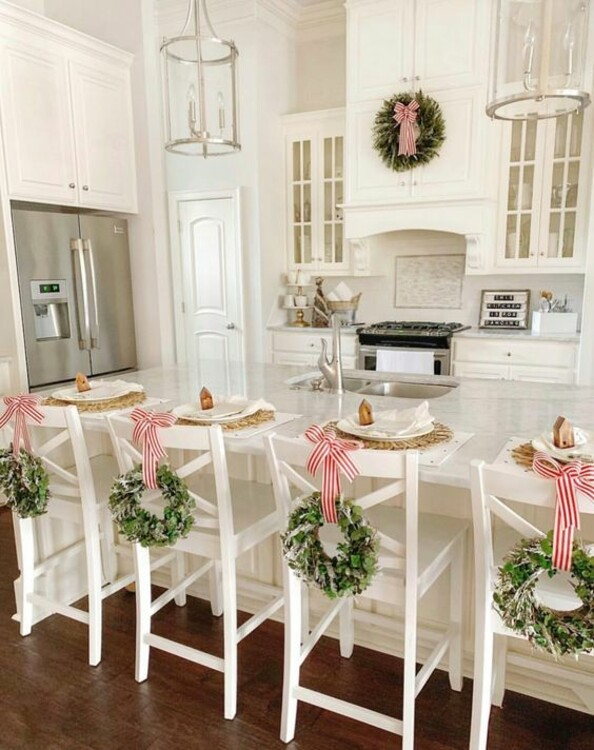как украсить дом к Новому году фото