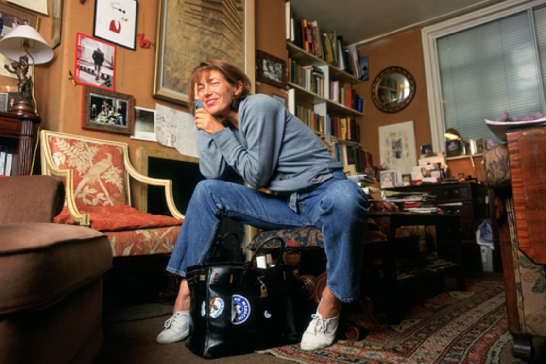 Джейн Биркин с сумкой Birkin, Hermès
