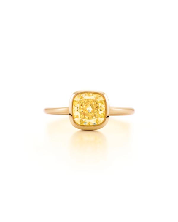 Кольцо Tiffany & Co. платина и желтый бриллиант