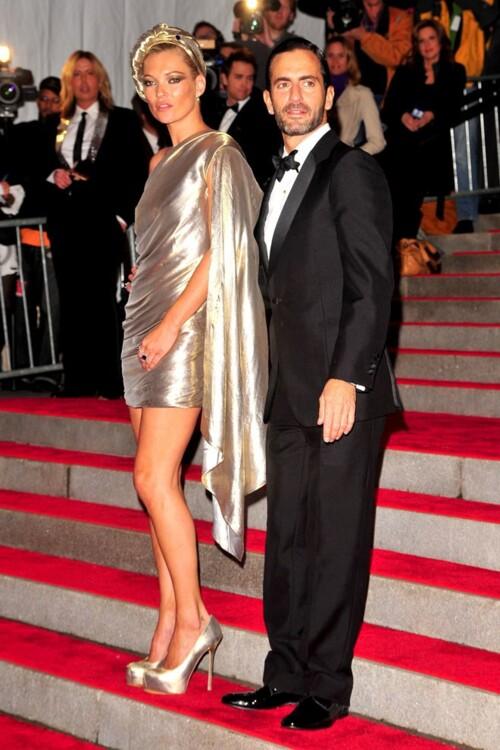 Кейт Мосс в Marc Jacobs с Марком Джейкобсом, MET Gala 2009
