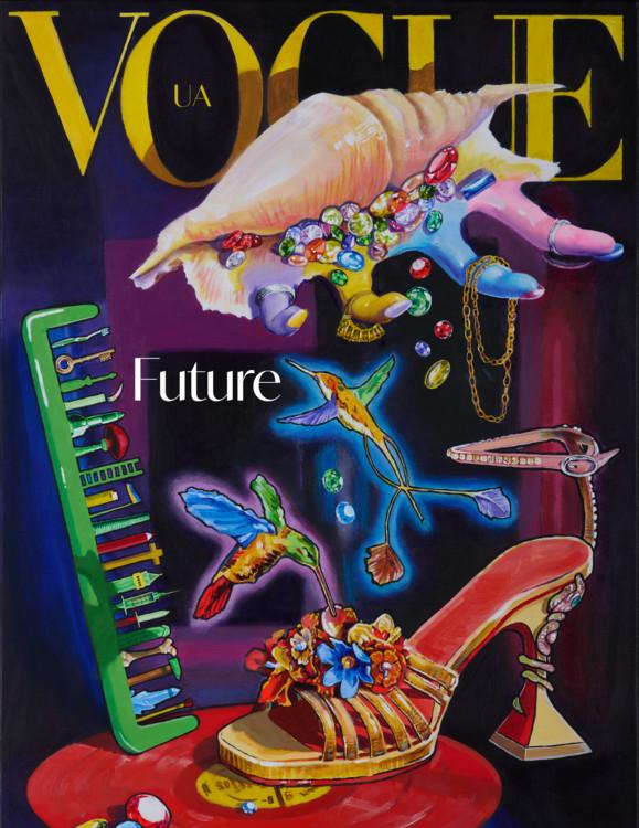 АРСЕН САВАДОВ Vogue. Холст, смешанная техника, 70 х 50 см