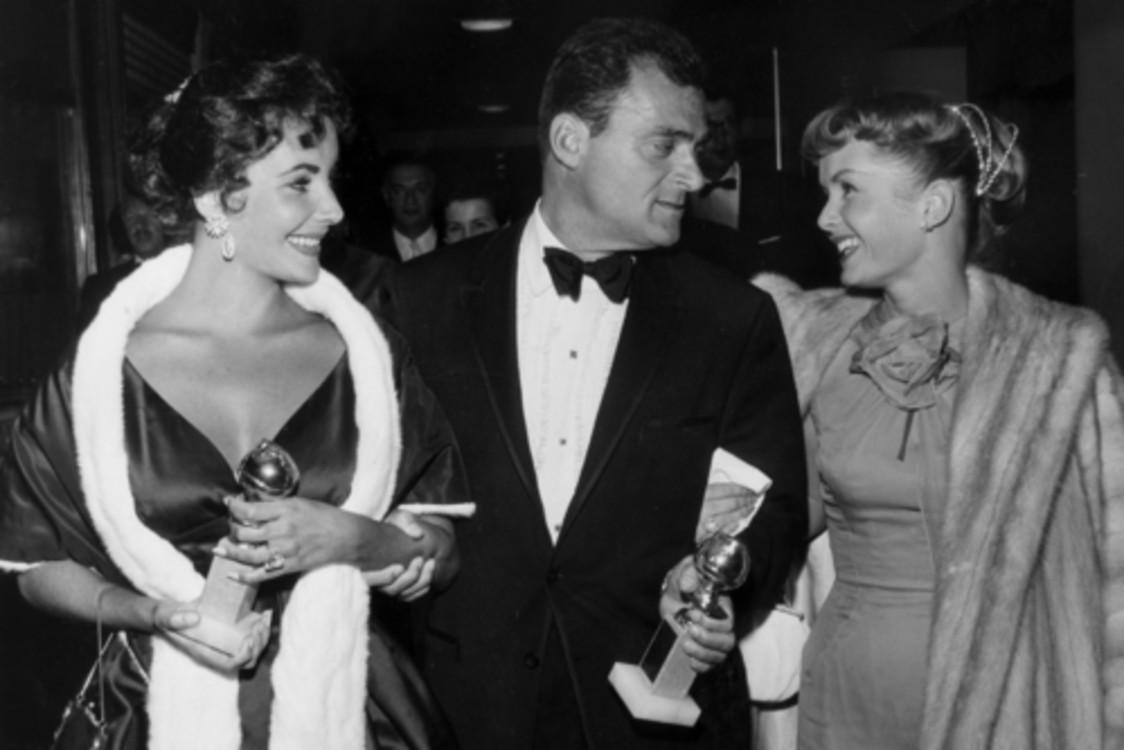 Элизабет Тейлор, Майк Тодд и Дебби Рейнольдс, 1957