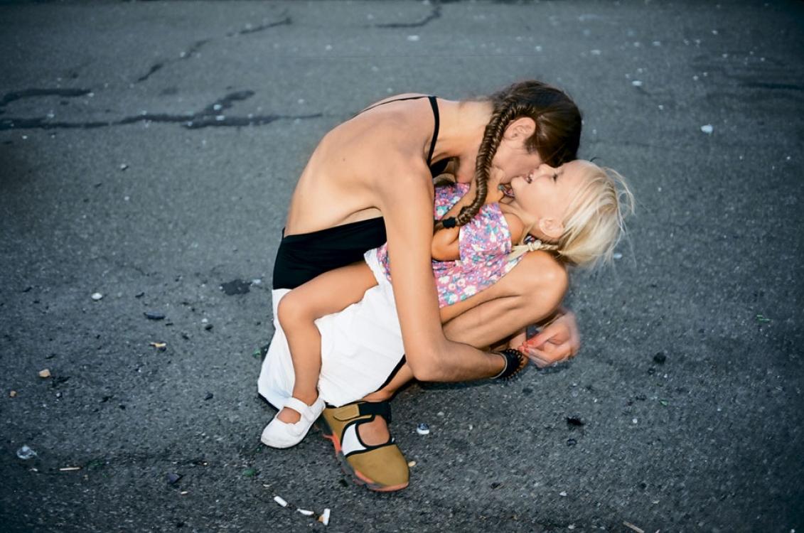 Евгения Кедрова с дочерью Агатой